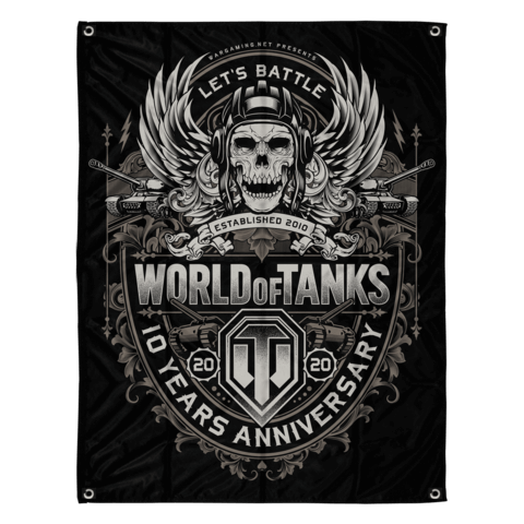 √10 Years Anniversary von World Of Tanks - Flag jetzt im World of Tanks Shop
